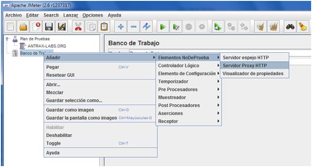 Servidor proxy HTTP
