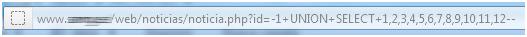 error en base de datos sql injection