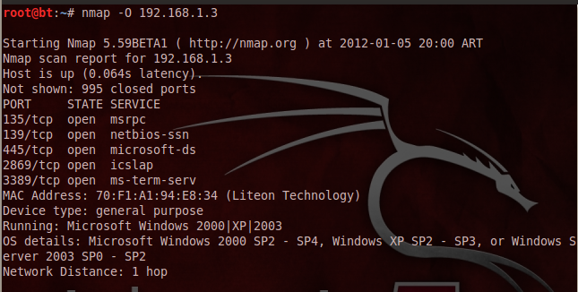 how to use nmap to scan a network