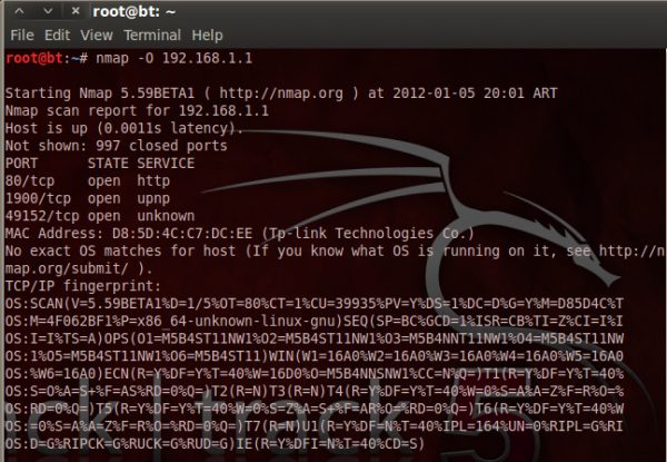 nmap tcp ip fingerprint